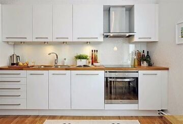 Full Of White Cabinet  For Flat Kitchen Design Photos Lates