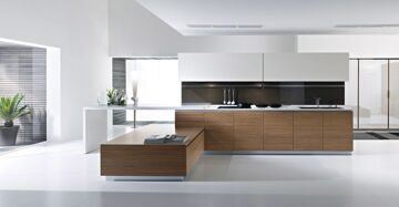 kitchen-ideas-trendy-brown-hardwood-cabinets-with-white-kitchen-cabinetry-set-as-well-as-white-false-ceiling-and-lighting-decor-in-modern-kitchen-design-decoration-furnishing