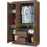stylespa-florida-three-door-wardrobe-honey-brown-finish